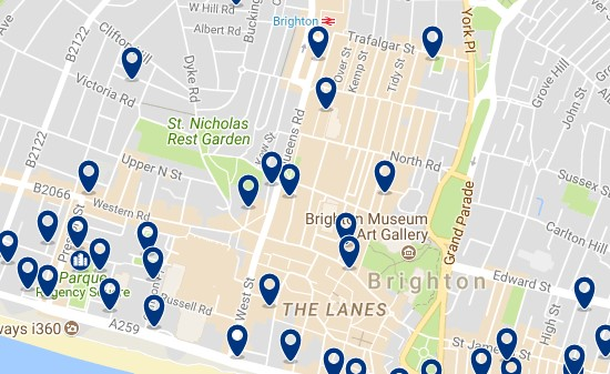Brighton - City Centre - Click to see all hotels on a map