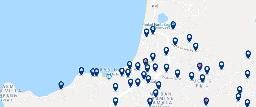 Phuket - Kamala Beach - Click to see all hotels on a map