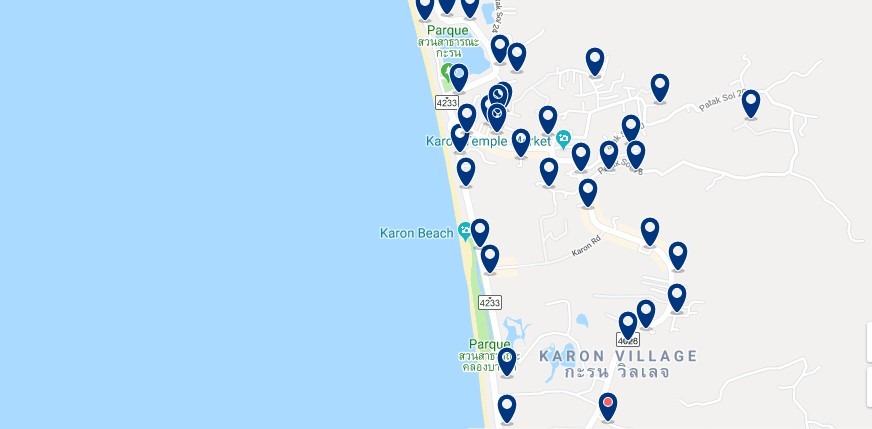 Phuket - Karon - Click to see all hotels on a map