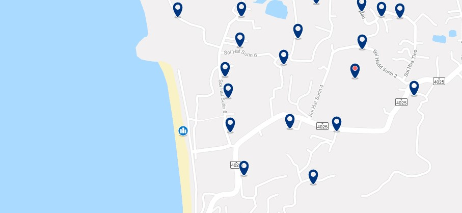 Phuket - Surin Beach - Click to see all hotels on a map