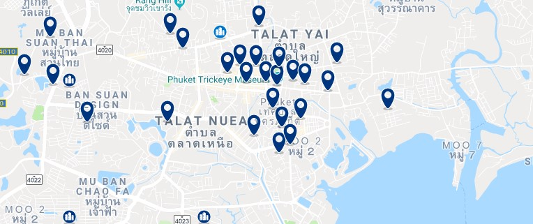 Phuket Town - Click to see all hotels on a map