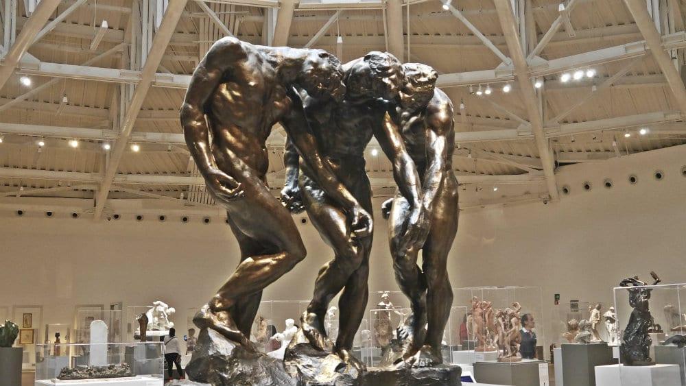 Sala de esculturas con obras de Rodin - Museo Soumaya de México