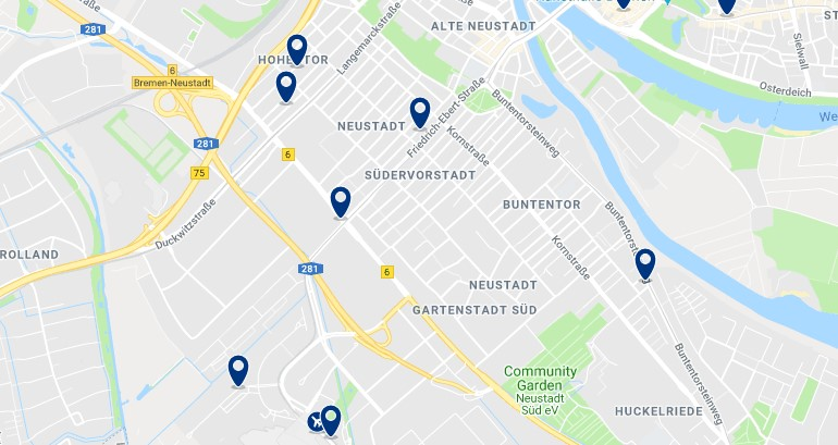Bremen - Neustadt - Click to see all hotels on a map
