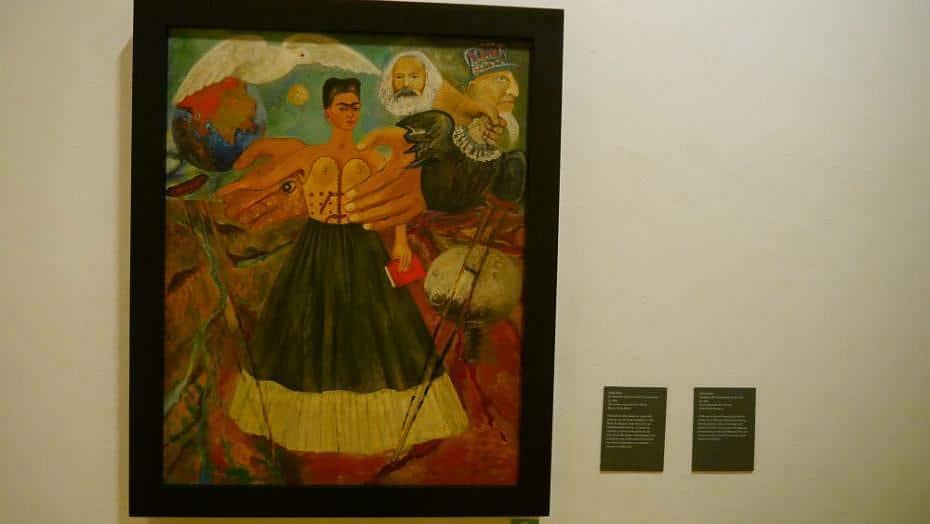 El marxismo dará la la salud a los enfermos - Obra de Frida Kahlo en el Museo La Casa Azul