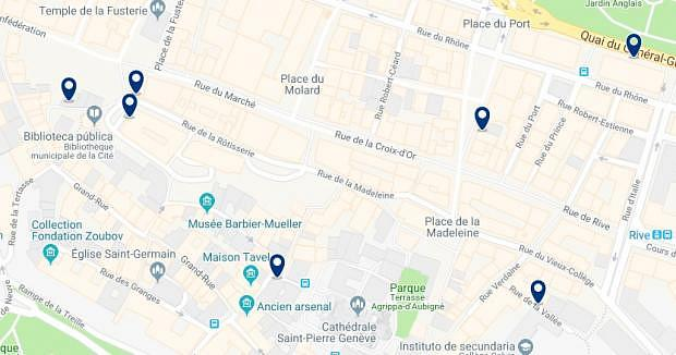 Geneva - Cité & Vieille Ville - Click to see all hotels on a map
