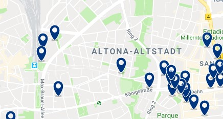 Hamburg - Altona - Click to see all hotels on a map