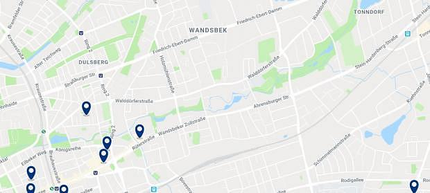 Hamburg - Wandsbek - Click to see all hotels on a map