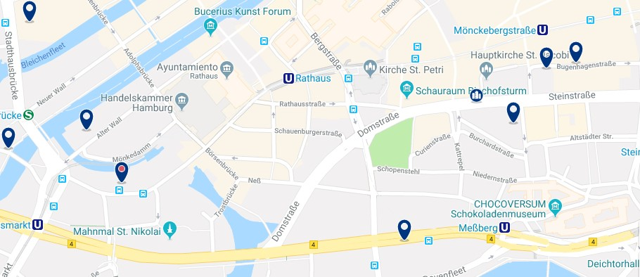 Hamburgo - Altstadt - Click to see all hotels on a map
