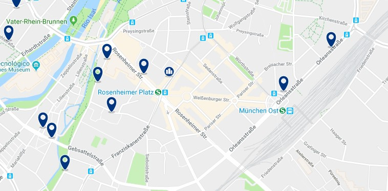 München - Au–Haidhausen - Click to see all hotels on a map