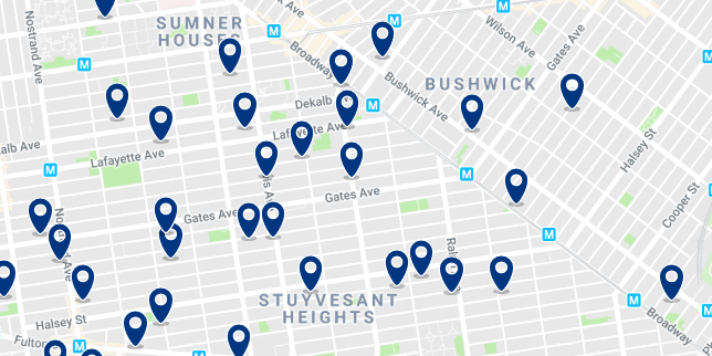Brooklyn - Bushwick - Click here to see all hotels on a map