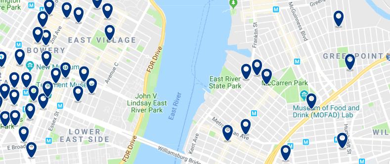 Brooklyn - Greenpoint - Haz clic para ver todos los hoteles en un mapa