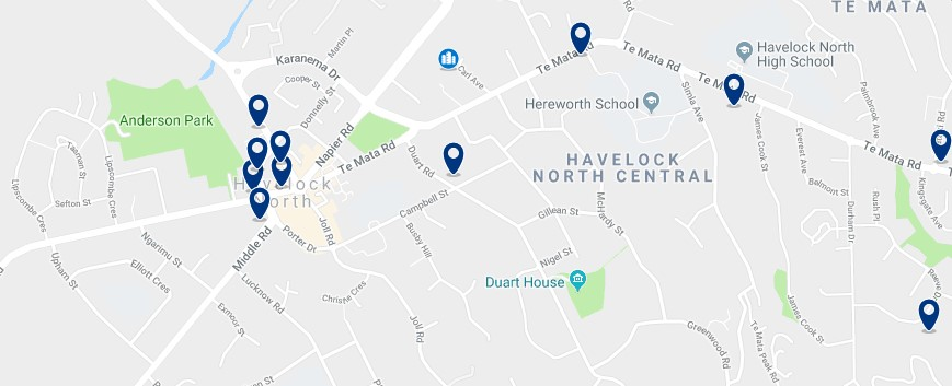 Havelock North - Click to see all hotels on a map