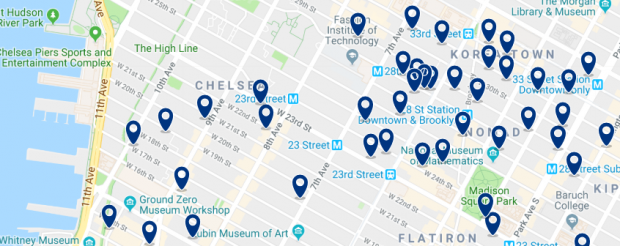 New York - Chelsea - Click here to see all hotels on a map