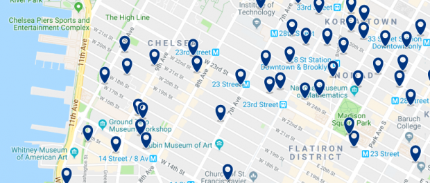 New York - Meatpacking District - Click here to see all hotels on a map