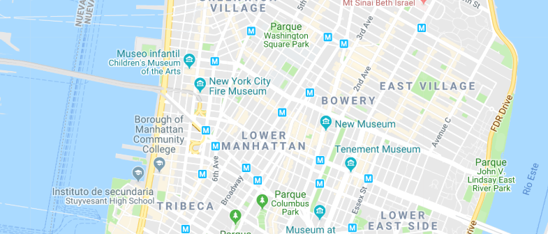 New York - Soho & Tribeca - Click here to see all hotels on a map