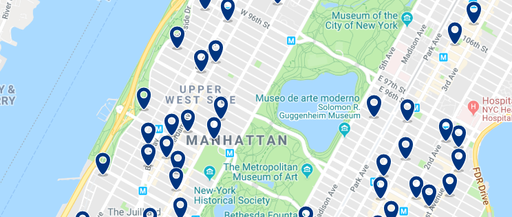 New York - Upper West Side - Click here to see all hotels on a map