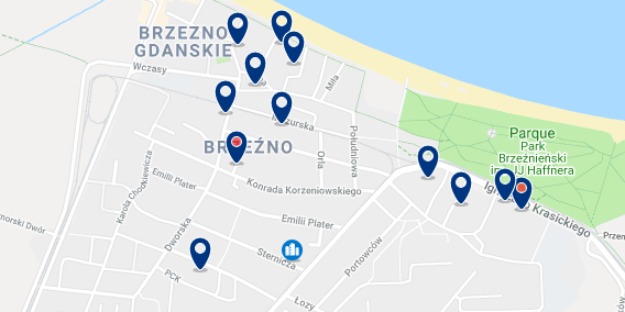 Gdansk – Brzezno – Click to see all hotels on a map