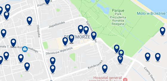 Gdansk – Przymorze – Click to see all hotels on a map