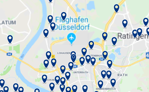 Düsseldorf – Flughafen – Click to see all hotels on a map