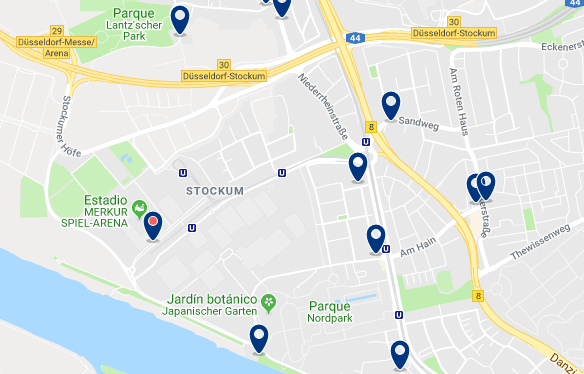 Düsseldorf – Stockum – Click to see all hotels on a map