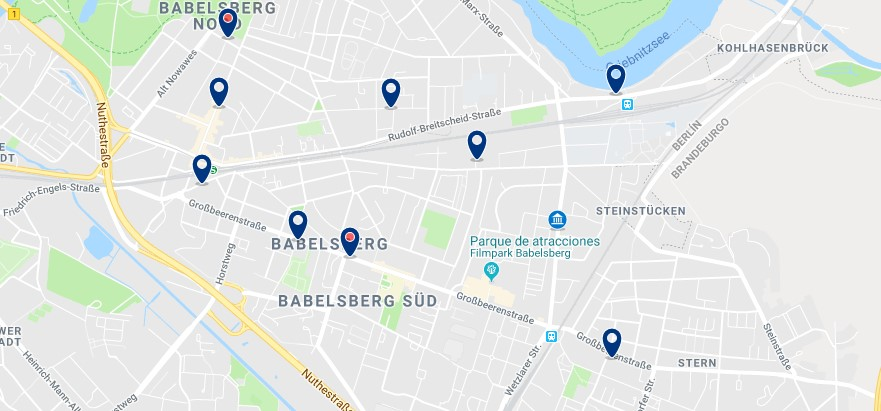 Potsdam - Babelsberg - Click to see all hotels on a map