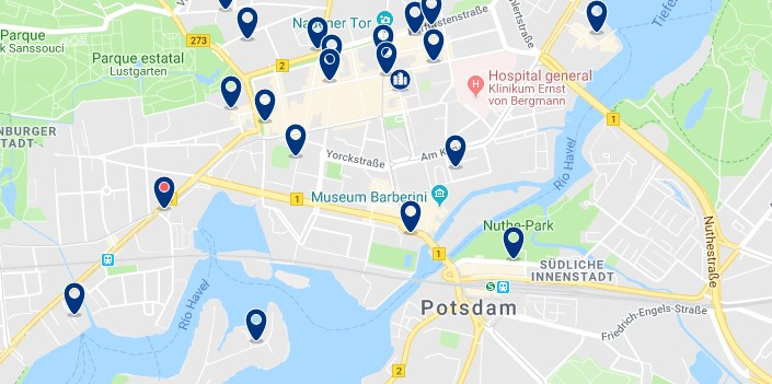Potsdam - Innenstadt - Click to see all hotels on a map