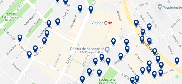 Londres - Victoria - Haz clic para ver todos los hoteles en un mapa