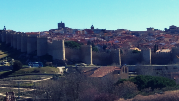 Views of Ávila from Cuatro Postes - Where to stay in Ávila