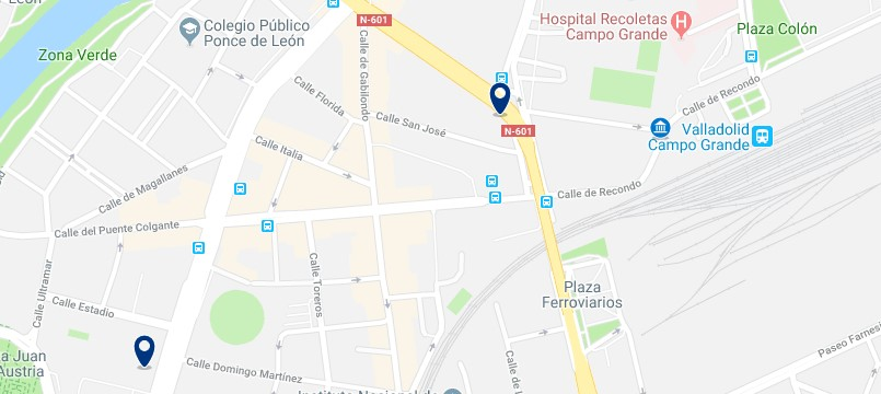 Valladolid - Near the Renfe station - Click to see all hotels on a map