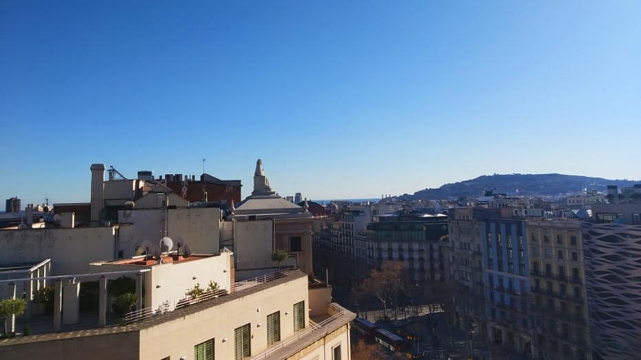 Vistas de Barcelona desde la terraza de la Pedrera