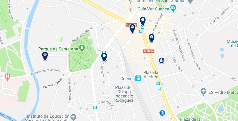 Cuenca - Estación de trenes - Haz clic para ver todos los hoteles en un mapa