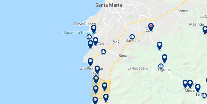Santa Marta - Bello Horizonte - Click to see all hotels on a map