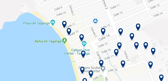 Santa Marta - Taganga - Click to see all hotels on a map