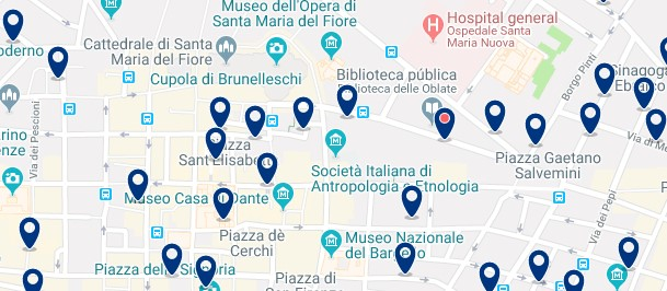 Florencia - Old Town - Click to see all hotels on a map