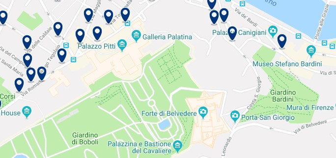 Florence - Palazzo Pitti - Click to see all hotels on a map