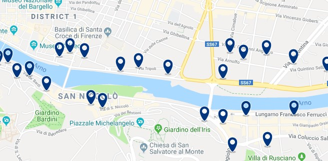 Florence - Piazzale Michelangelo - Click to see all hotels on a map