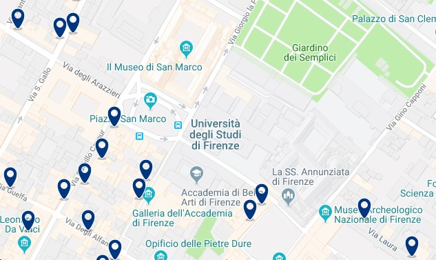 Florence - San Marco - Click to see all hotels on a map