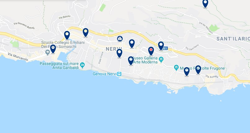 Genoa - Nervi - Click to see all hotels on a map