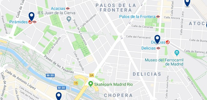 Madrid - Arganzuela - Click to see all hotels on a map