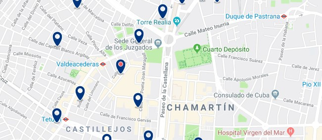 Madrid - Chamartín - Click to see all hotels on a map