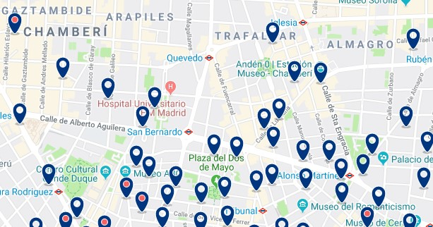 Madrid - Chamberí - Click to see all hotels on a map