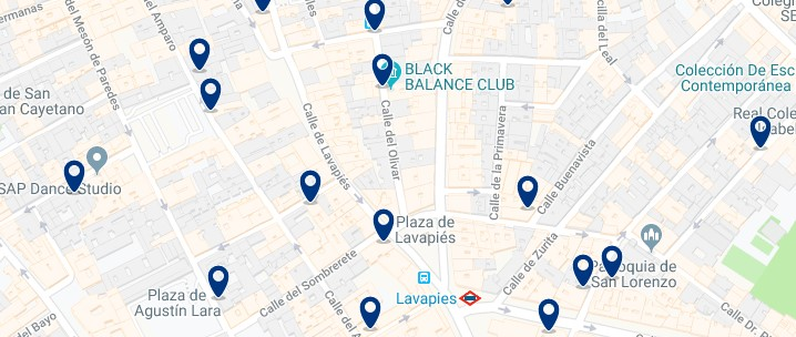 Madrid - Lavapiés - Click to see all hotels on a map