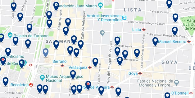 Madrid - Salamanca - Click to see all hotels on a map