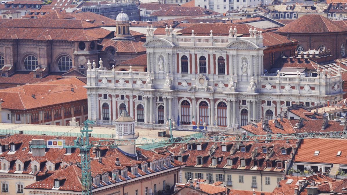Palazzo Carignano desde la Mole Antonelliana