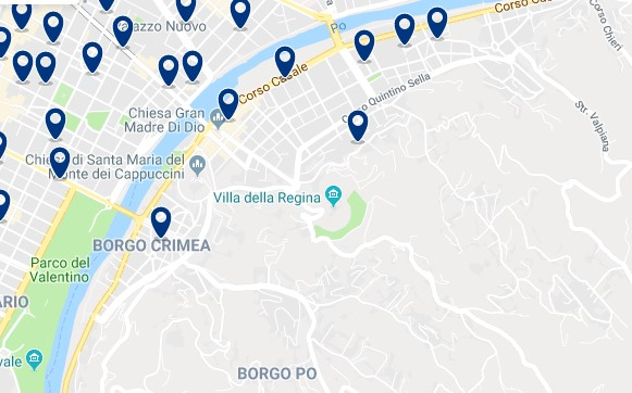 Turin - Borgo Po - Click to see all hotels on a map