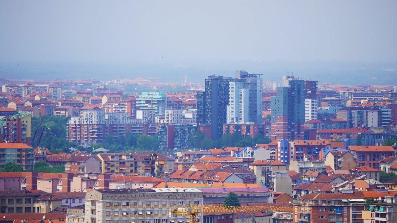 Zona moderna de Torino desde la Mole Antonelliana