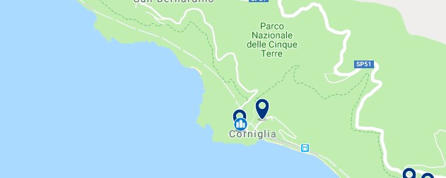 Cinque Terre - Corniglia - Click to see all hotels on a map