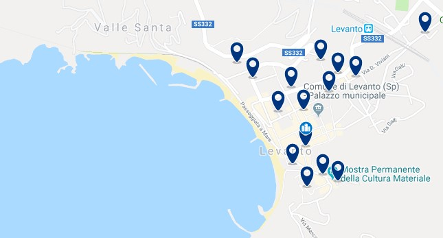 Cinque Terre - Levanto - Click to see all hotels on a map