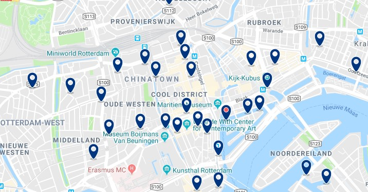Rotterdam - Centrum & Cool District - Click to see all hotels on a map