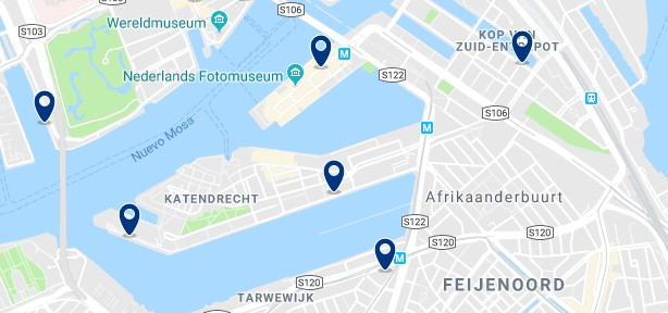 Rotterdam - Feijenoord - Click to see all hotels on a map